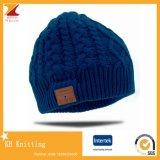 Bluetooth 아크릴 뜨개질을 하는 겨울 베레모 모자