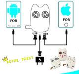 banco da potência dos desenhos animados de 6000mAh Totoro para baterias alternativas universais da face animal bonito diferente dos telefones