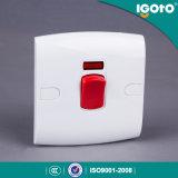 Interruptor eléctrico de la pared del calentador de agua del estándar británico de Igoto para el hogar