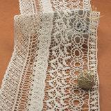 カスタム広い珊瑚の化学軽くて柔らかい綿のギピールレースのビードの真珠ファブリックアフリカのコードのレースのサンプル