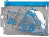 Bolso de encargo reciclable del Ziplock del PVC del claro de la impresión del OEM