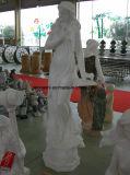 De witte Marmeren Tuin van de Steen Dame Sculpture