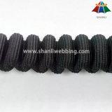 安全製品のバッファリングの使用のための25mmの黒いナイロン伸縮性があるウェビング