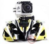 1.5のインチのカムコーダーのスポーツカム1080P HDは30mのヘルメットのカメラの潜水のスポーツDVの処置のカメラを防水する