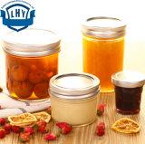 bouteille de miel de l'encombrement 250ml. Bouteilles en boîte faites maison de conserves au vinaigre