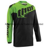 Motocicleta do t-shirt da equitação através dos campos de cor verde que compete Jersey (MAT59)
