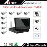Großhandelsnetz-Videogeräte 4 Installationssatz WiFi Radioapparat-Kameras der Kanal CCTV-IP-Kamera-NVR
