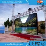 Visualización de LED a todo color al aire libre del alquiler de HD P6mm para el anuncio