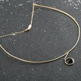 方法宝石類の簡単なワイヤー円形ディスク女性のチョークバルブのネックレス