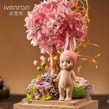 발렌타인 선물을%s 유리에 있는 형식 100% 자연적인 실제적인 로즈 꽃
