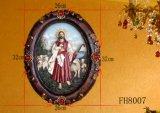 De antieke Godsdienstige Plaque van de Muur voor de Decoratie van Kerstmis