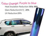 Rússia Hot Selling Blue to Purple Chameleon Car Window Film
