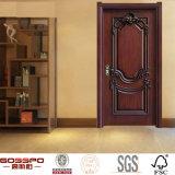 Clásico tallado interior individual francés Puerta de madera sólida (GSP2-002)