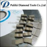 El segmento de la piedra del granito del corte del diamante para 2500m m consideró la lámina