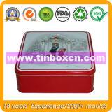 Квадратный контейнер для промотирования, коробка олова подарка олова металла