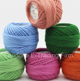 Capretti mercerizzati organici del merletto del peso del Crochet del cotone che lavorano a maglia il filo di cotone