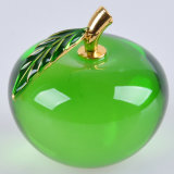 Pisapapeles cristalino artificial verde tamaño pequeño de Apple del esmalte