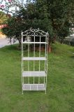 4 couches de planteur de stand d'étagère en métal pour d'intérieur et extérieur