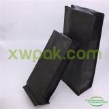 Sacchetti di caffè neri opachi della carta kraft Della parte inferiore piana con la valvola