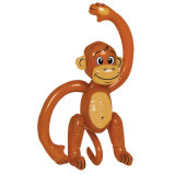 100cmおかしいPVC膨脹可能な猿の表示