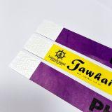 Bracelet d'identification de Tyvek d'impression de logo pour l'accès d'événement