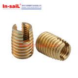 Noix spiralées extérieures en laiton de configuration d'isolant de Rampa