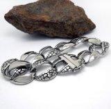 Тип панка ювелирных изделий серебряных браслетов людей цвета нержавеющий