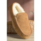 Hombres zapatillas de piel de oveja Invierno Cálido