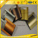 Le sable de qualité a soufflé l'extrusion en aluminium d'or de magnat avec des couleurs élégantes et magnifiques