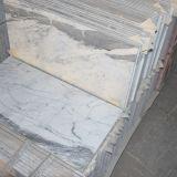 Китайская Polished белая дешевая мраморный плитка для украшенной стены