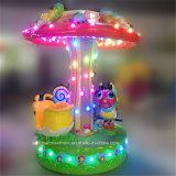 아이 게임의 주위에 LED 빛을%s 가진 작은 벌레 회전 목마
