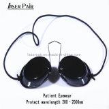 Occhiali di protezione del migliore di sicurezza occhio del laser per il paziente, i pazienti ed i medici, paziente IPL della clinica di bellezza degli occhiali di protezione di sicurezza di protezione della luce laser di vetro di Eyepatch