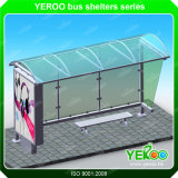 Kundenspezifischer im Freien LED-Streifen-heller Kasten-Bushaltestelle-Schutz