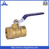 Válvula de esfera de bronze das vendas quentes com punho de aço (YD-1008)