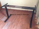 A mesa ajustável da altura elétrica, senta-se para estar a mesa para o escritório
