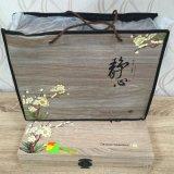 Коробка подарка бумаги искусствоа упаковки чая цвета классики 4 деревянная