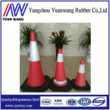 Cono europeo del tráfico de camino del PVC del sólido del mercado 750m m de la fábrica china caliente de la venta