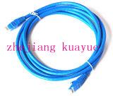 Mâle de RJ45 d'UTP au câble LAN Plat mâle de réseau Ethernet