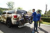 Мотоцикл Sqare разделяет алюминиевый шкаф несущей мотоцикла
