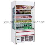 Congelador e refrigerador para o indicador da bebida no supermercado