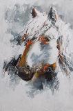 キャンバスの抽象的なアクリル動物の絵画