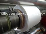 Hwasen Marca plástico rollo a rollo Máquina rebobinadora de corte longitudinal vertical