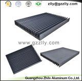 Disipador de calor de aluminio/de aluminio de la protuberancia del peine