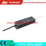 bloc d'alimentation imperméable à l'eau de l'interpréteur de commandes interactif en aluminium continuel DEL de la tension 24V-60W