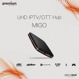 Steun IPTV Ott 4k Bluetooth Stalker van Migo van Ipremium scheidt de Androïde STB met 64 bits 1+8g