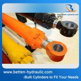 Cilindro hidráulico del excavador temporario doble