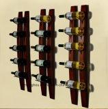 La visualización de madera montada en la pared de los muebles del hogar del estante del almacenaje del vino de Newwest