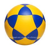 Amtliche Massengröße 5 4 PU-Belüftung-lederne Fußball-Kugel