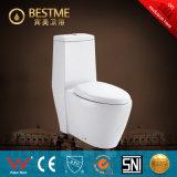Toilette pertinente élevée de carte de travail de l'eau de trappe de l'une seule pièce S