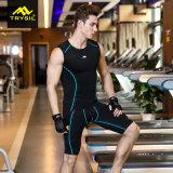 Vestito attivo degli abiti sportivi di usura di compressione del Mens per estate